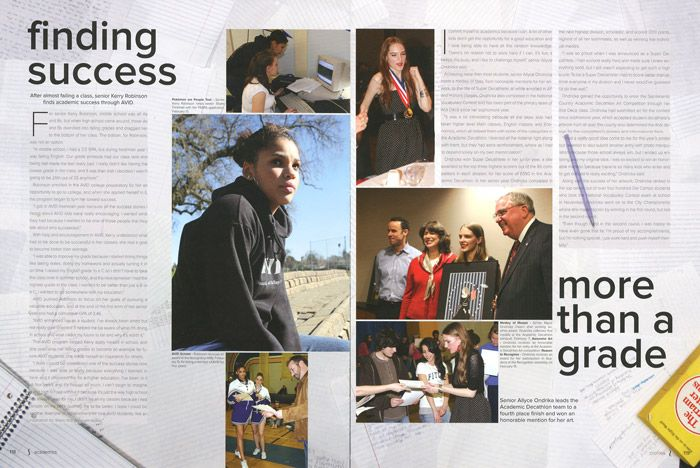 Great Yearbook Page Layout Example from Decamhian, Del Campo