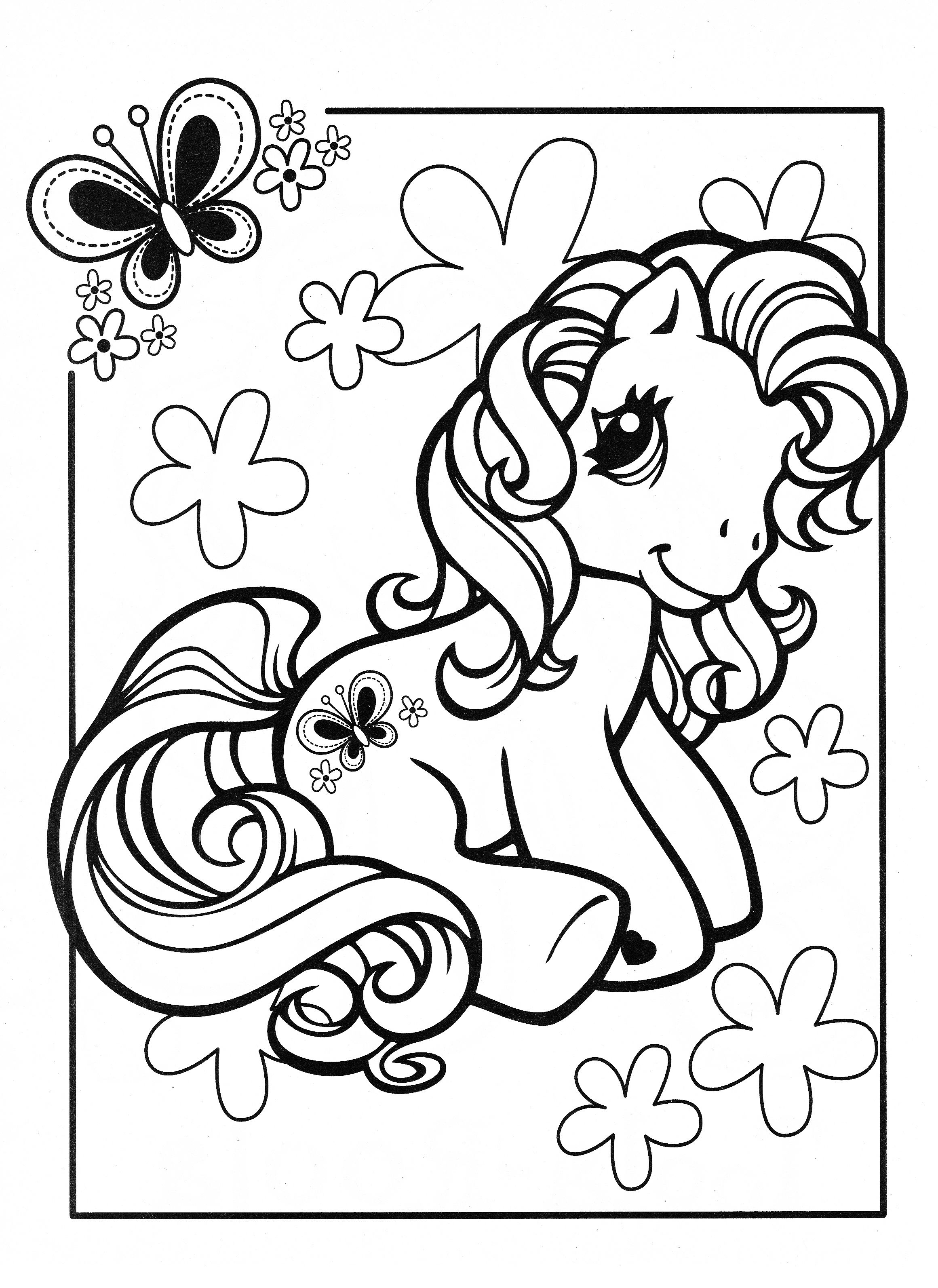 My Little Pony Coloring Page Mlp Scootaloo Unicorn Coloring