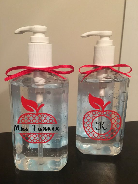 Personalized Teacher Hand Sanitizer Teacher Gift By Slisabailey