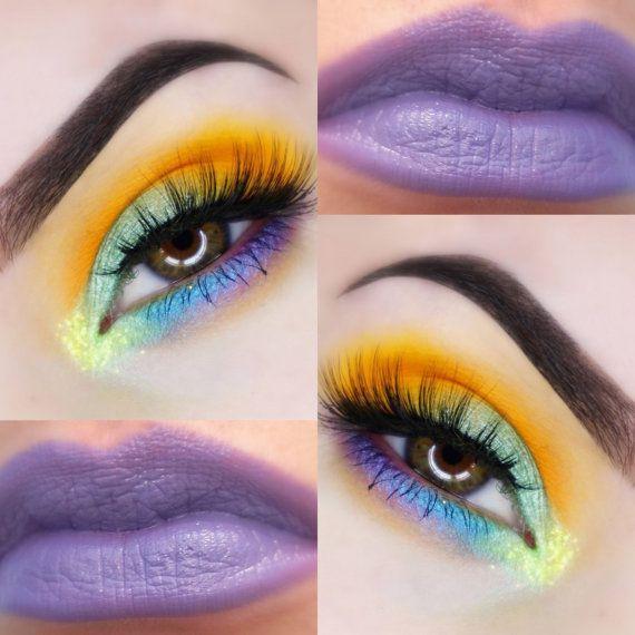 Photo of MARDIS GRAS Eyeshadow and Lipstick Look – Natural, Vegan Friendly Makeup