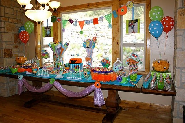 Monster Party decorations Monsters party Pinterest Monster