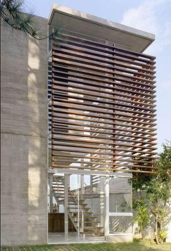 Elementos vazados na fachada brises blog da giacomelli for Parasoles arquitectura