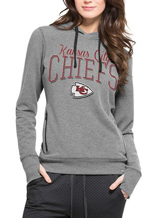 7a5ad1bb 47 Kansas City Chiefs Womens Grey Shift Stride Hoodie | NFL - Kansas ...