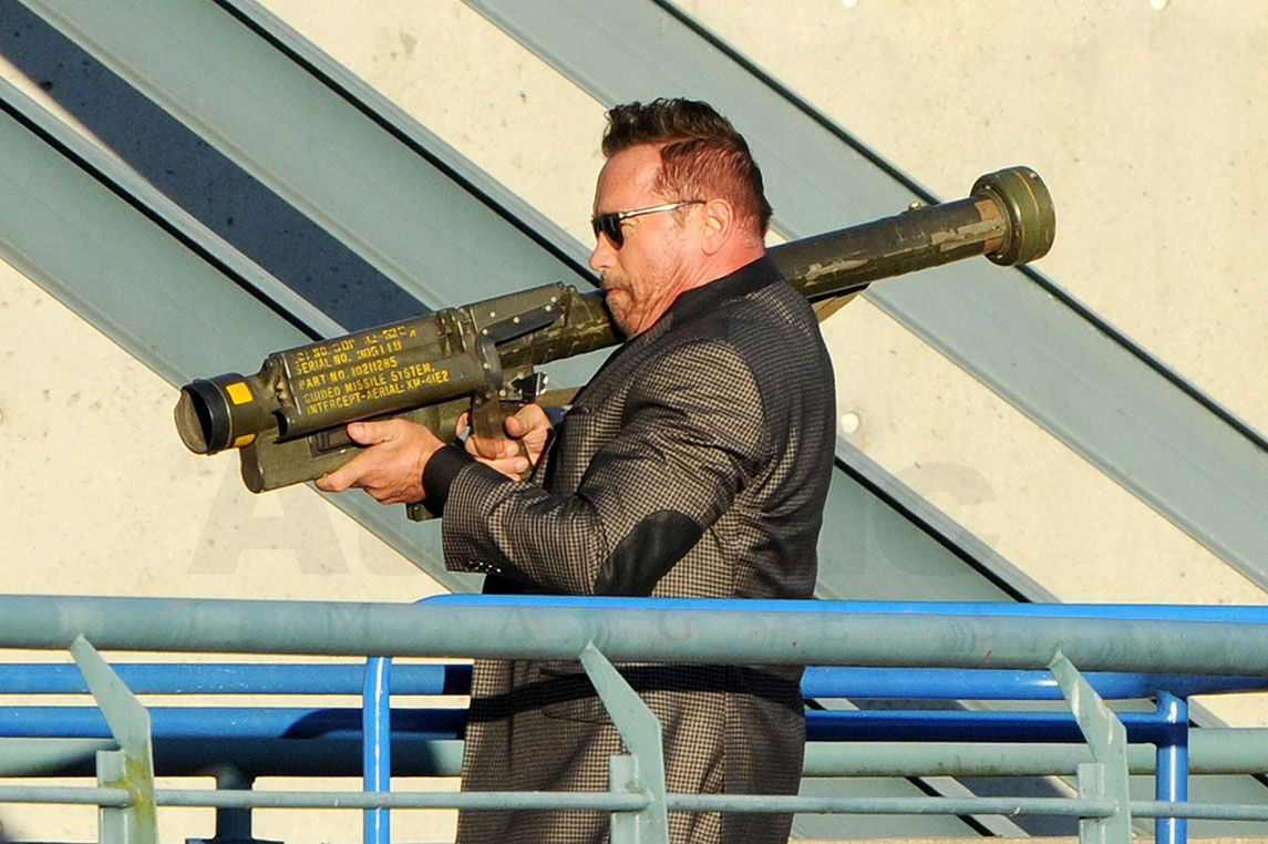 Arnold Schwarzenegger Returns To Action Star Status Firing A Bazooka Celebrity Wotnot