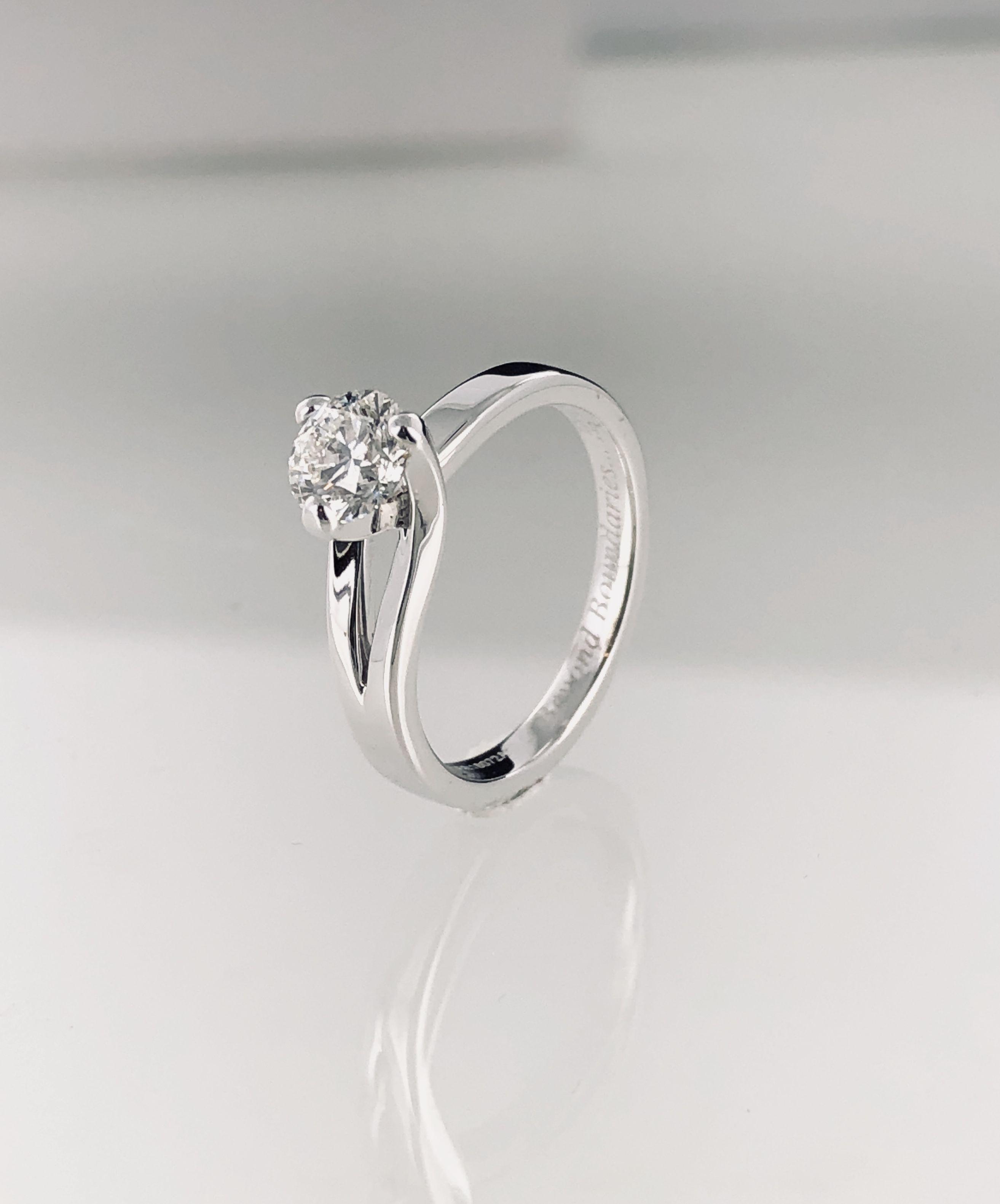revendeur cb12c 14672 Bague de fiançailles Sarasate diamant 0,50 carat H-si ...