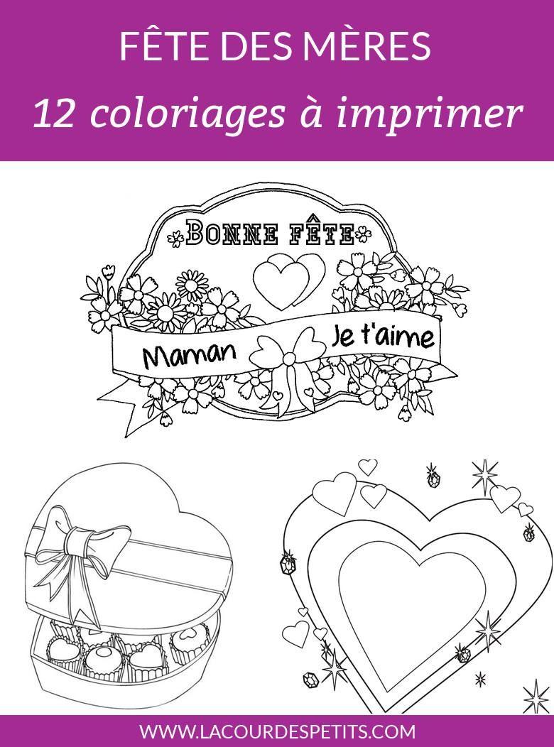 12 Coloriages Pour La Fête Des Mères Avec Un Cadeau