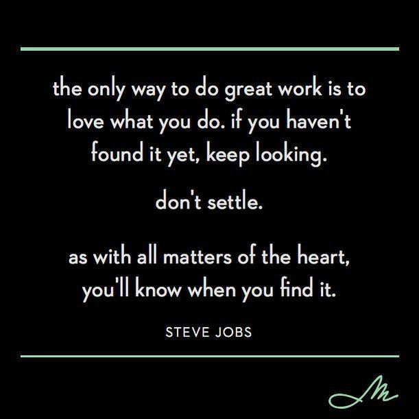 Hear hear. #wisewordswednesday #neversettle #lifeatmirador
