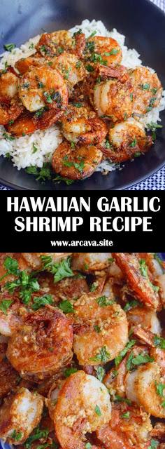 HAWAIIAN GARLIC SHRIMP RECIPE - #recipes #hawaiianfoodrecipes