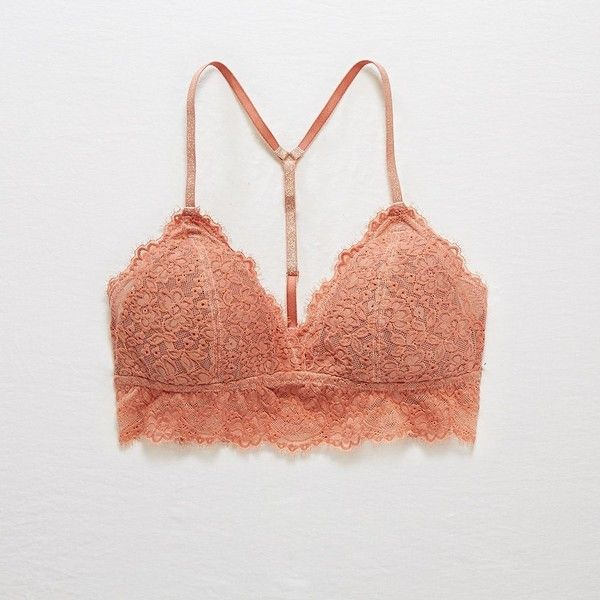 ffcca46d50 Aerie Padded Romantic Lace Bralette ( 15) ❤ liked on Polyvore featuring  intimates