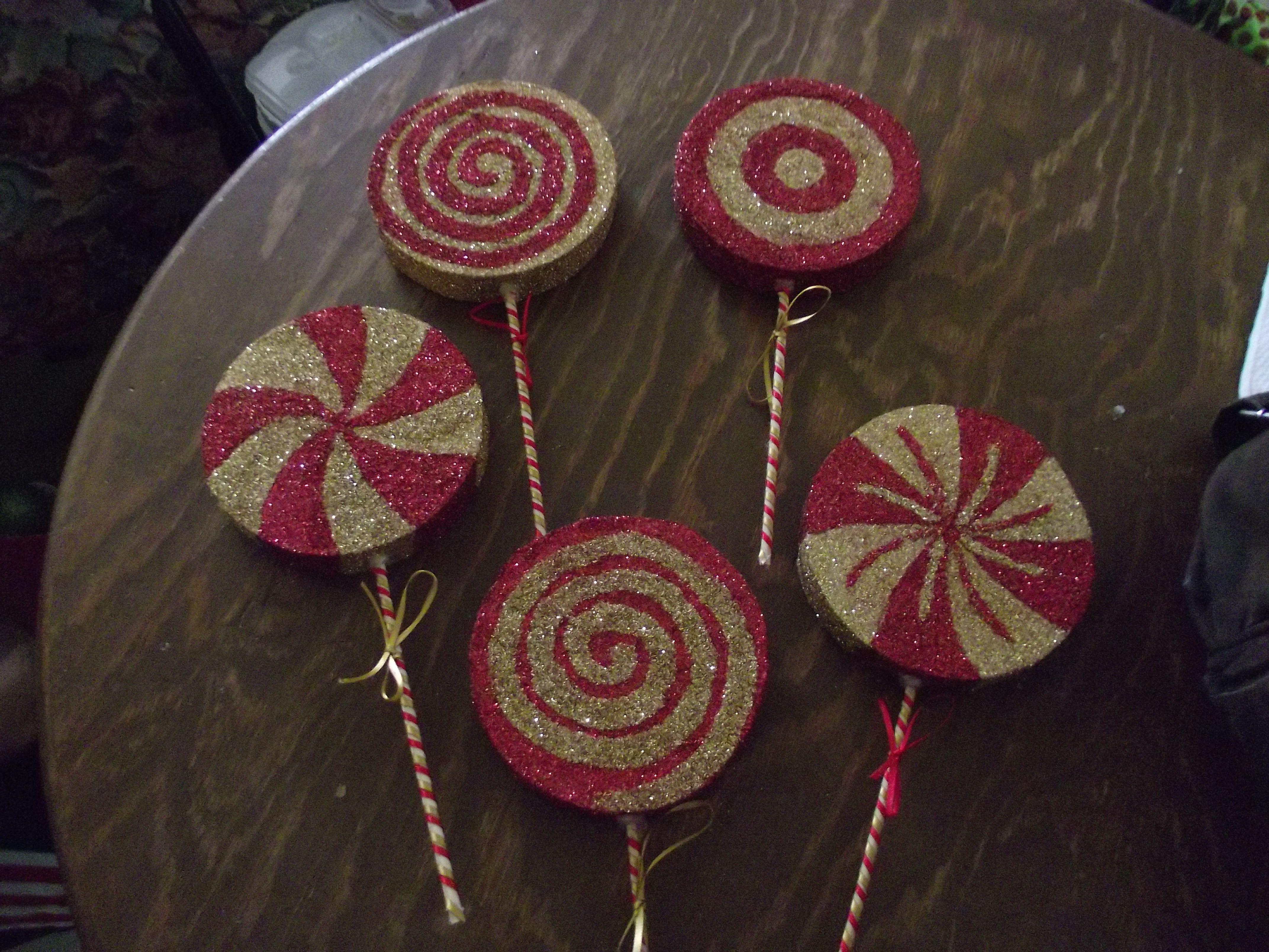 figuras de unisel en forma de paletas de caramelo padrisimas en el ...