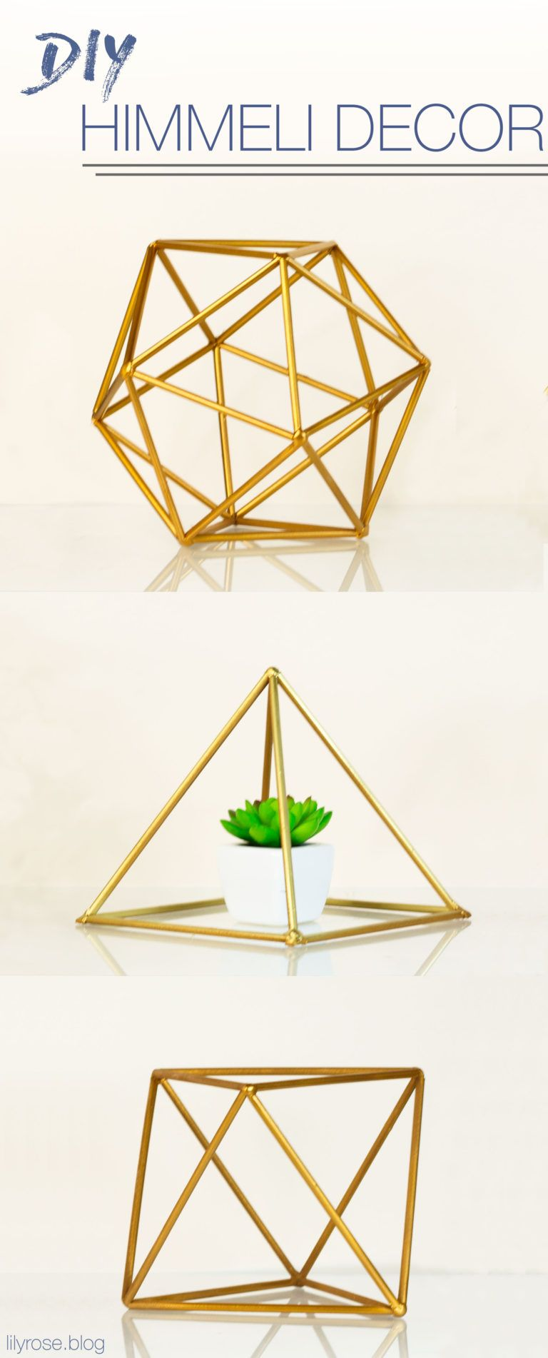 Diy Geometric Room Decor Himmeli Orbs With Straws Lily Rose