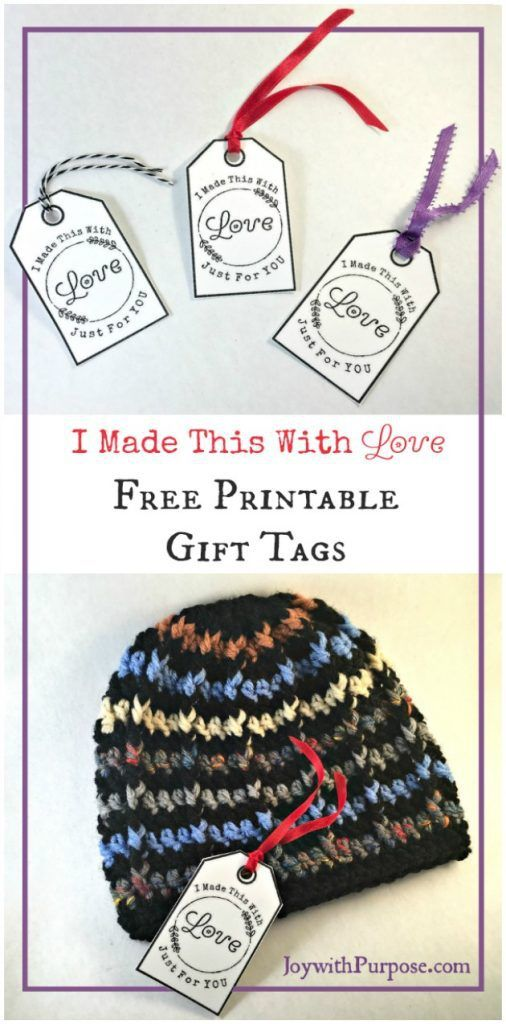 2ec97b321c8 FREE PRINTABLE tags to include with all of your handmade items (crochet