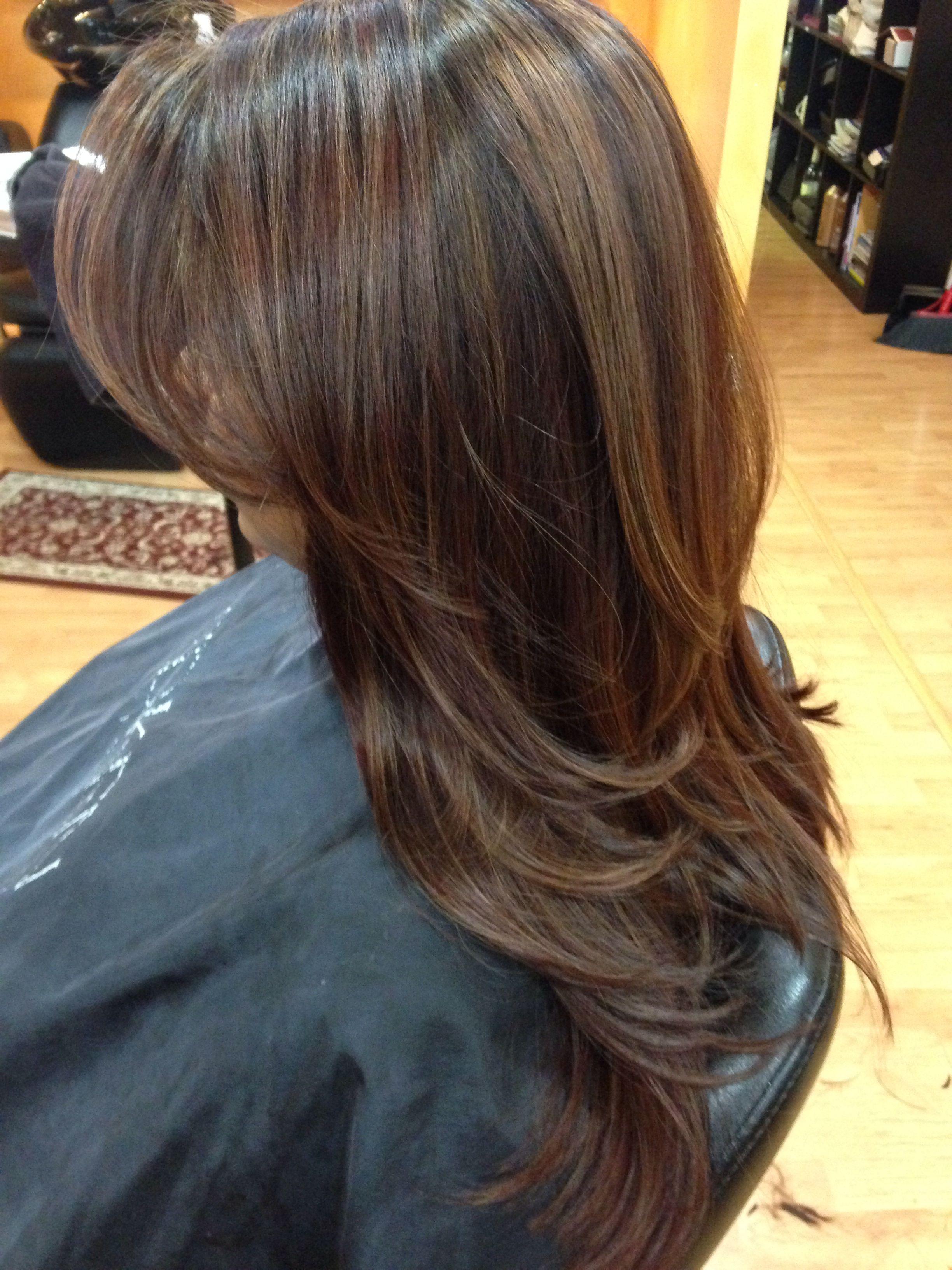 Highlights Hair Pinterest