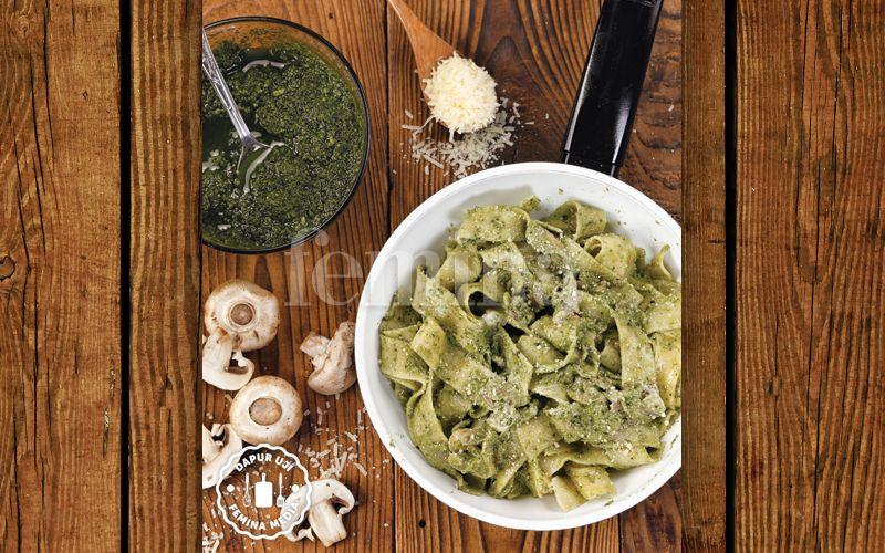 Resep Creamy Pesto Pappardelle Untuk Membuat Pasta Sekelas Resto Makanan Resep Kesehatan
