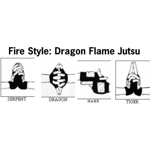 lava style jutsu hand signs fire style dragon flame