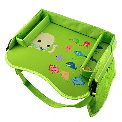 Toy Storage for Car] Kid Car Seat Travel Tray, Toddler Waterproof ...