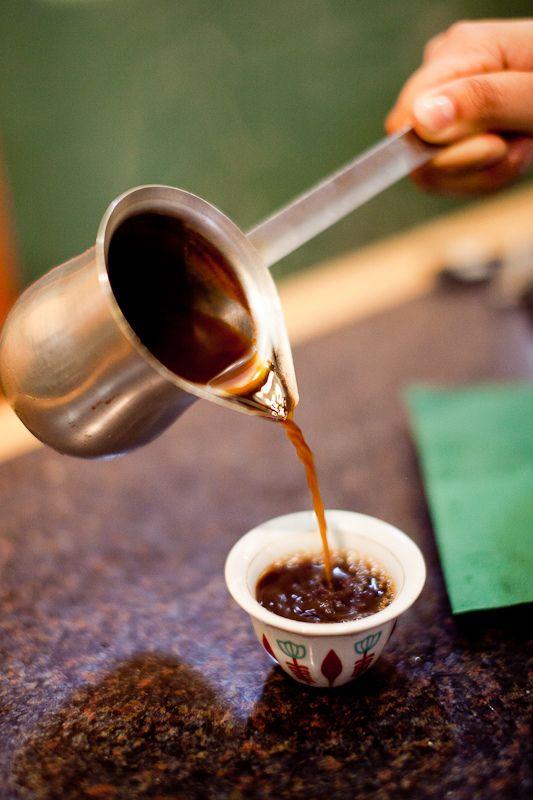 Lebanese Coffee Pour