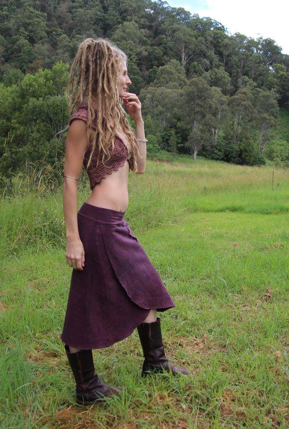 Hemp Fleece Forget-Me-Not Skirt