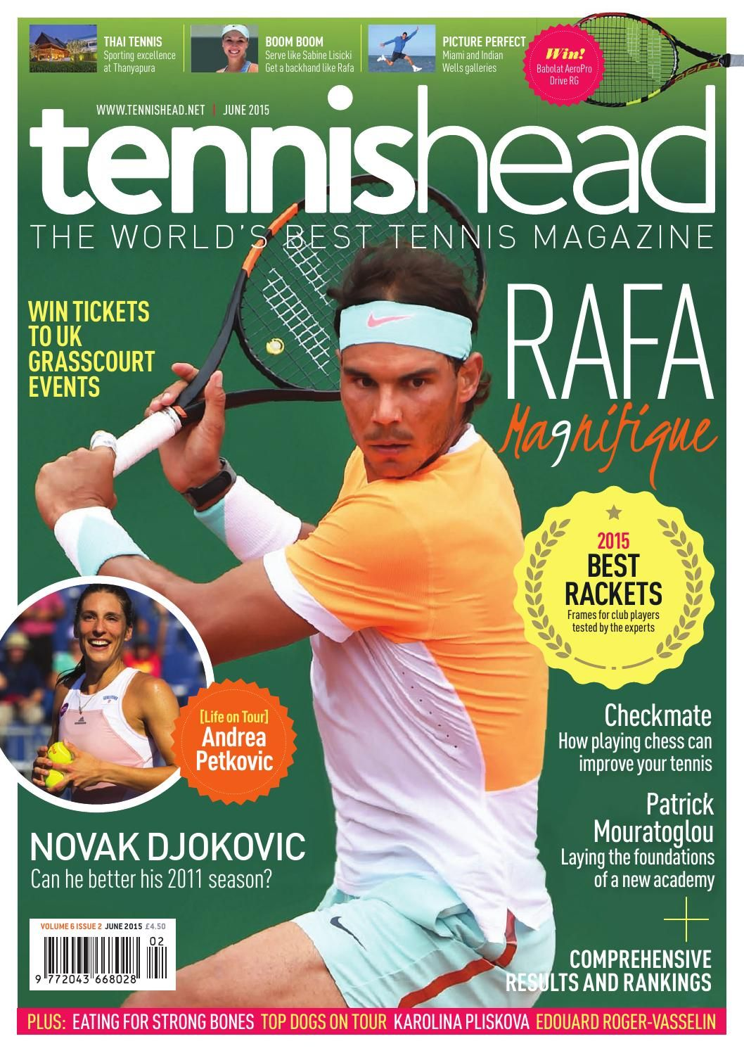 Tennishead Volume 6 Issue 2 In 2020 Tennis Magazine Rafael Nadal Fernando Verdasco