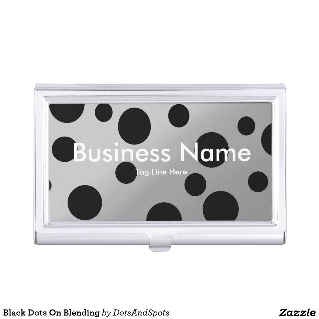 Black Dots On Blending Case For Business Cards