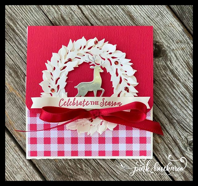 Photo of Toile Tidings simple Gift Card Holder (Pink Buckaroo Designs)