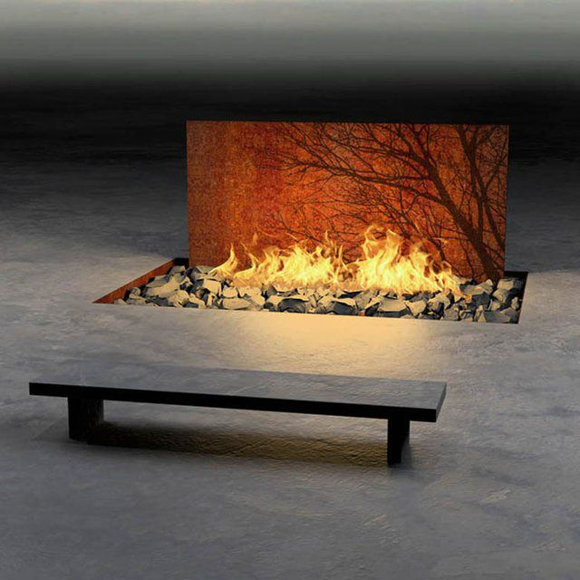 Diy outdoor gas fire pit burner inside desert in view cool for Outdoor gas fireplace designs