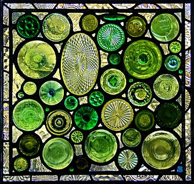 Daniel Maher Stained Glass Panels (made from recycled glass bottles)