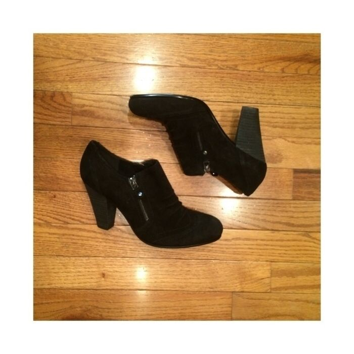 94bccc5b43de Franco Fortini - Black Suede Leather Zip Heeled Ankle Booties ❂ ✦ (ssodano)  - Vinted - Mercari - Poshmark