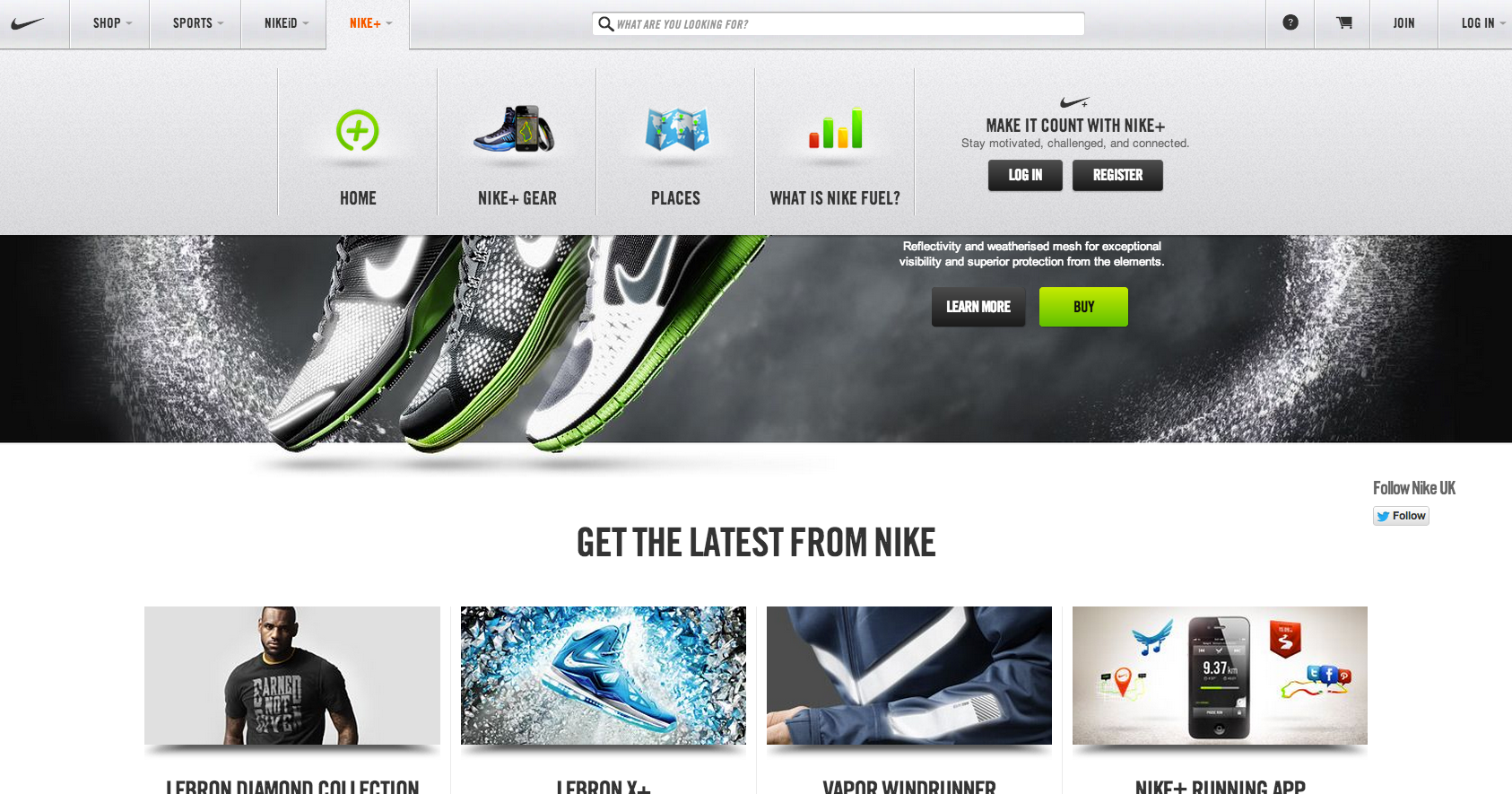 Coherente Especial Teoría establecida  Nike's new website - simple and clean | Nike fuel, Air max essential, Just  do it