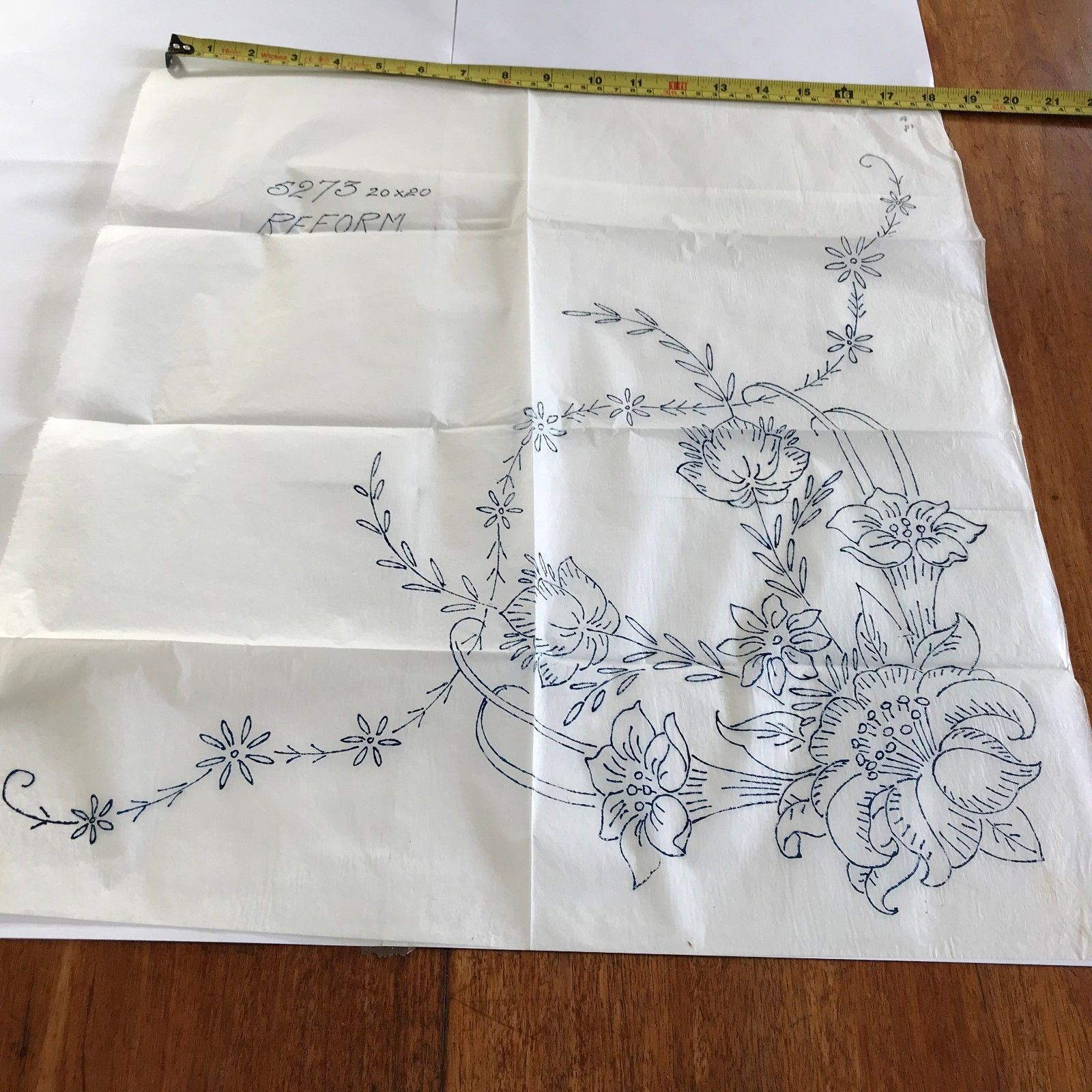 Large reform vintage iron on embroidery transfer desen panosu