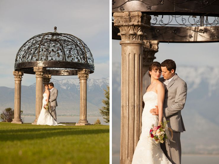 This gazebo at Talon's Cove overlooks Utah Lake and Mt. Timpanogas. Photo Credit: Terra Cooper.