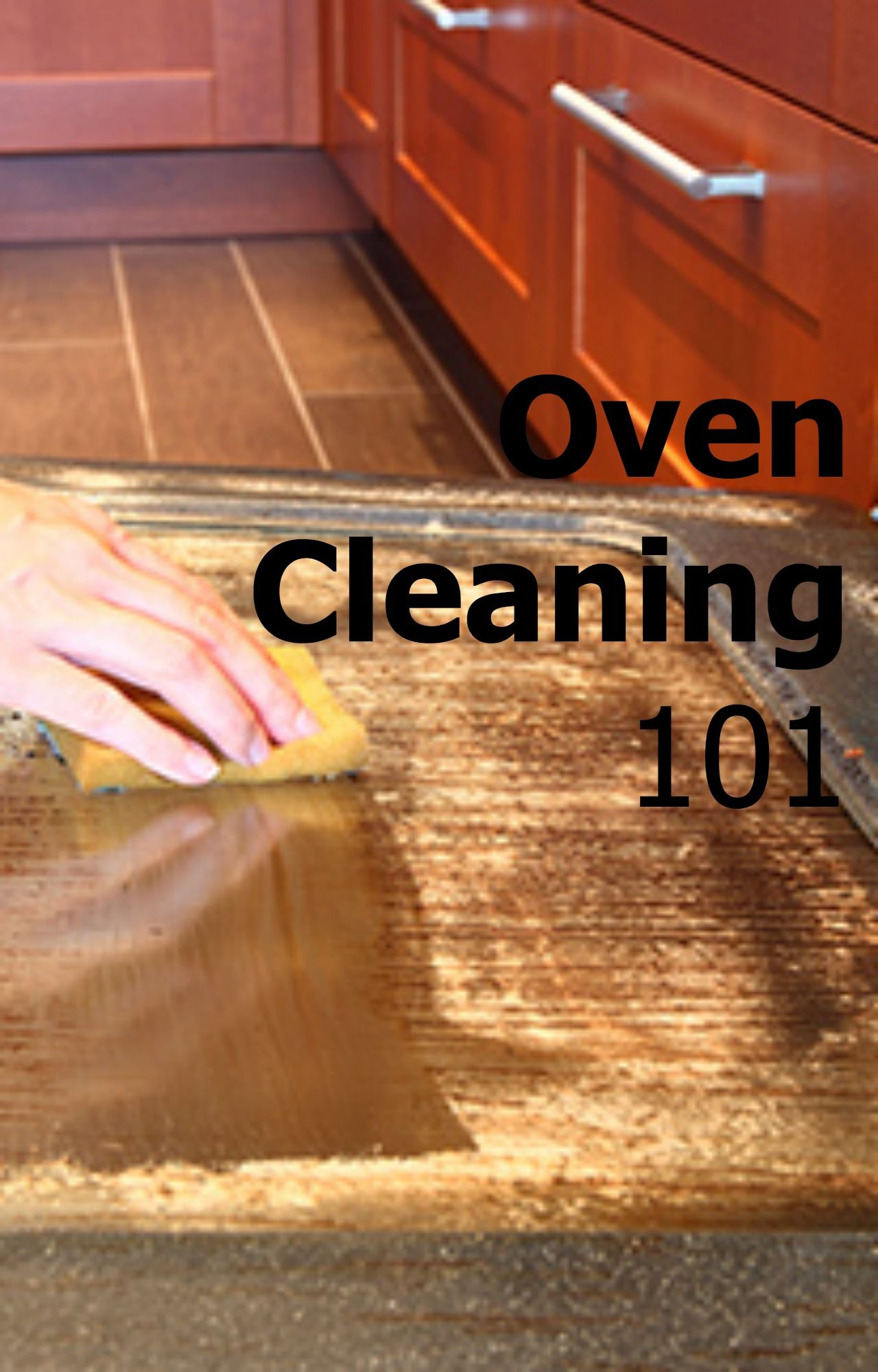 how to clean oven top