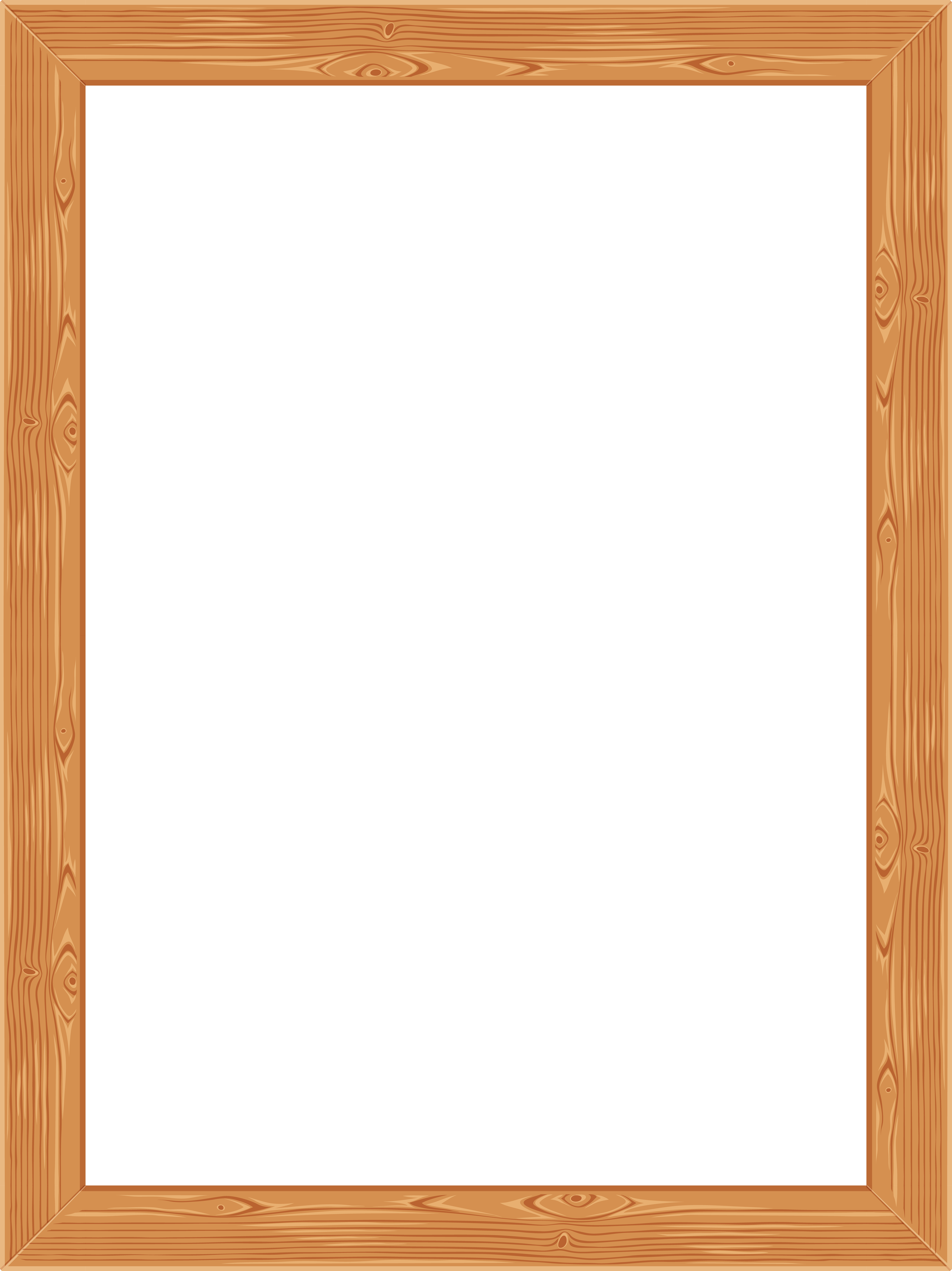 transparent classic wooden frame png image