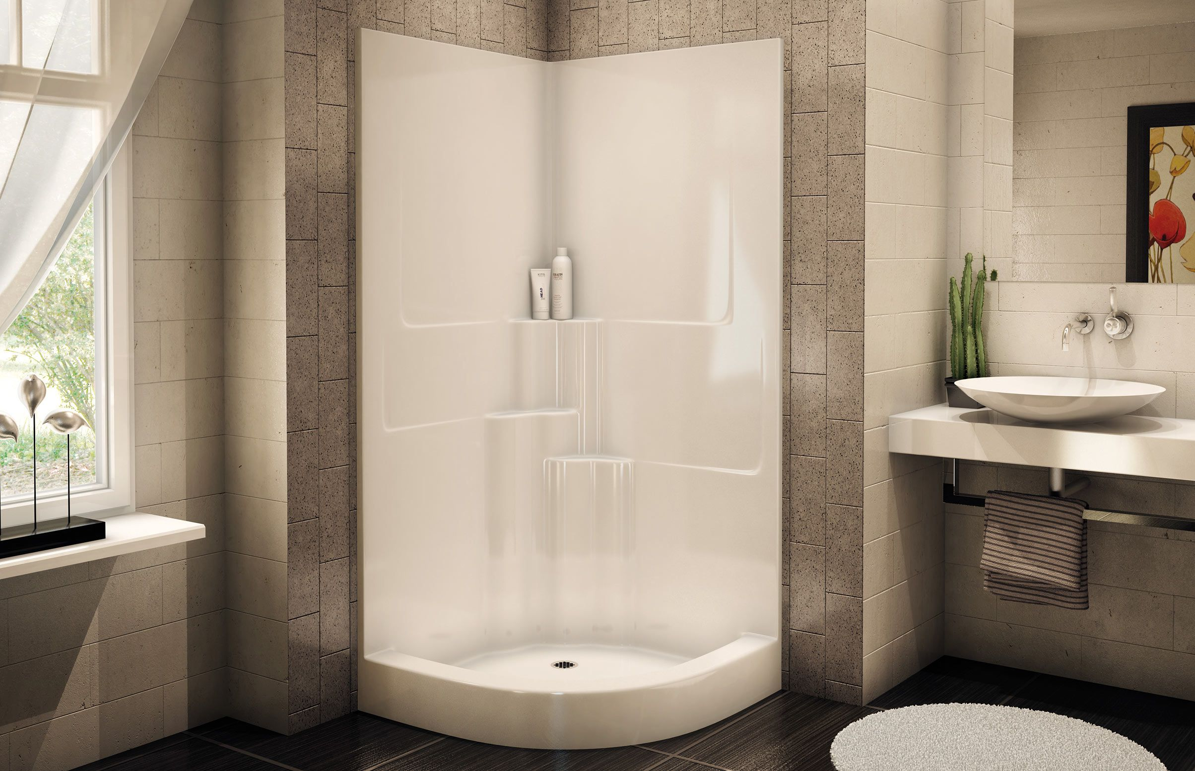 Portrayal of Amazing Corner Shower Units | Bathroom Design ...