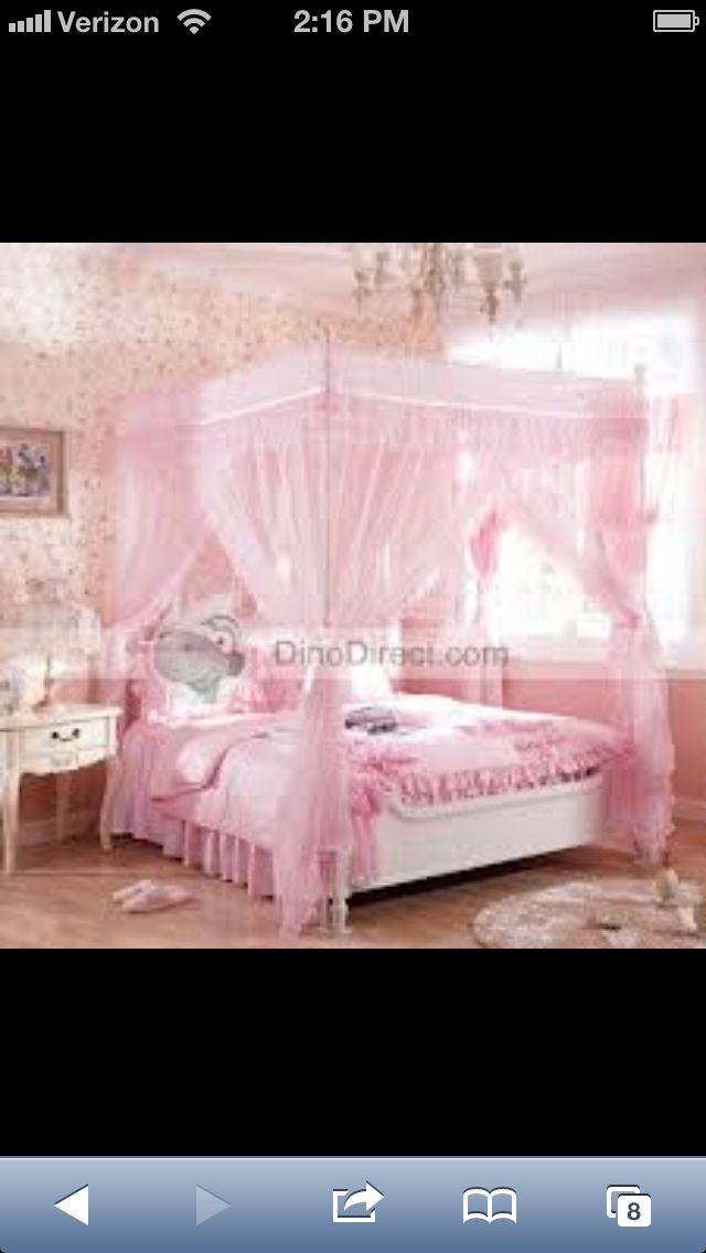 Pink Canopy Bed For My Little Girl Girls Bed Canopy Princess