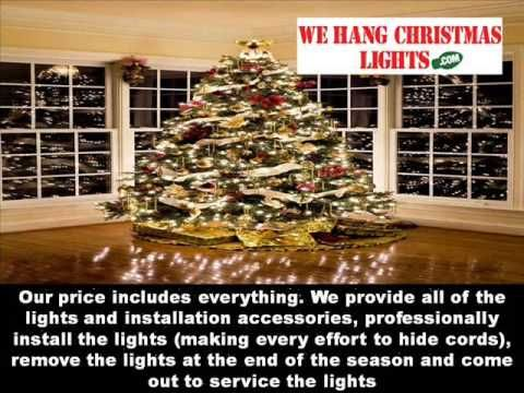 we hang christmas lights was started in 1997 and is made up of christmas light installers
