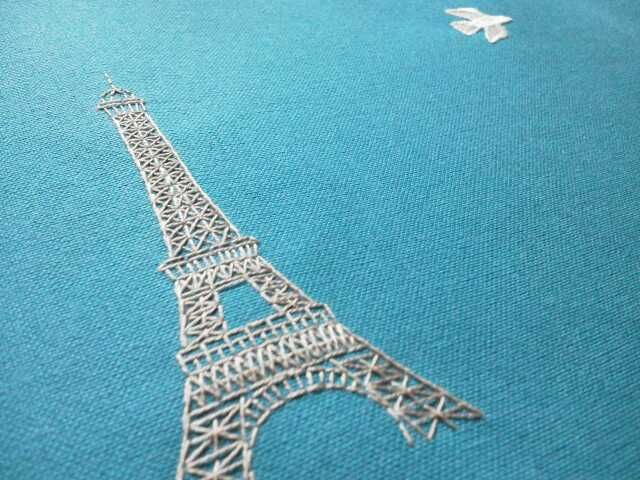 Eiffel Tower Embroidery Embroidery Patterns Pinterest