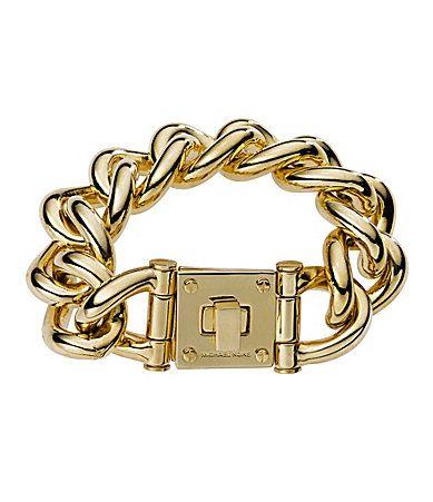 Michael Kors Padlock Open Link Bracelet #Dillards ...