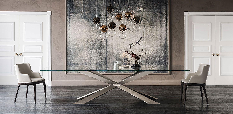 spyder tavoli Tavolo con base in acciaio verniciato