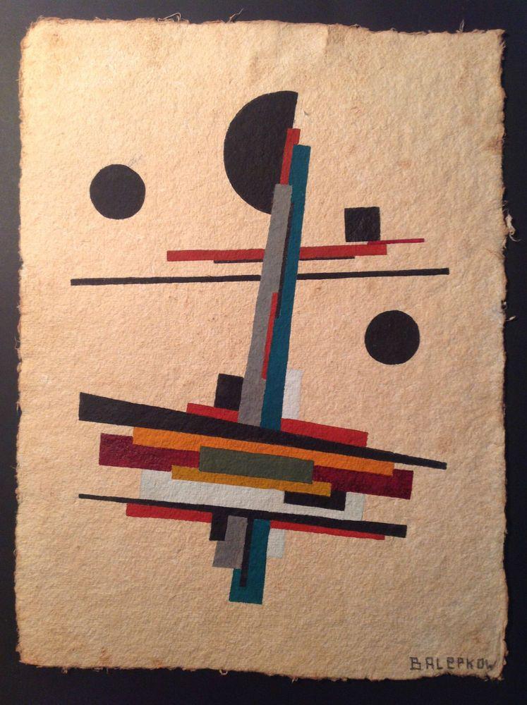 bauhaus kunst russische avantgarde aquarell konstruktivismus balepkow schweiz kunstrasen