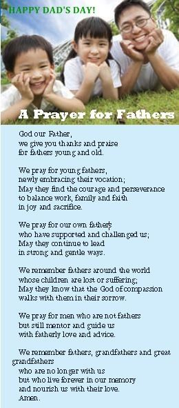 Happy Father S Day Dads Father S Day Prayer Fathers Day Poems
