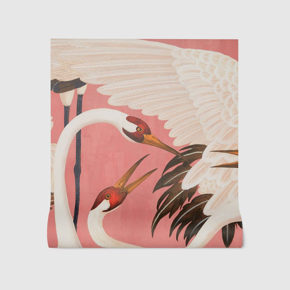 Gucci Heron print wallpaper Tapet, Vaser, Inredning
