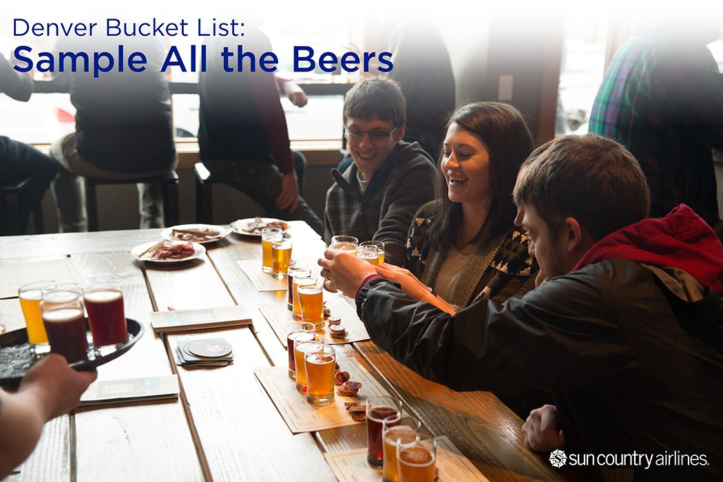 Denver Bucket List: BEER! From the world's largest brewing site (Coors), to independent breweries, brew pubs, and tasting rooms, beer lovers will find it easy to raise a glass to their favorite beverage.