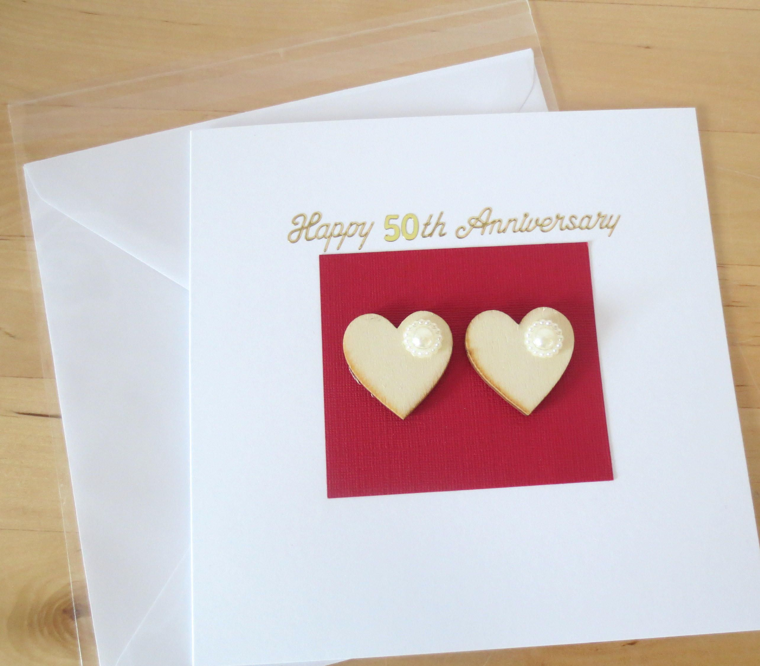 Unique 25th 30th 40th 50th 60th Anniversary Card Gift Luxury Etsy Anniversary Cards Handmade Wedding Anniversary Cards Anniversary Cards