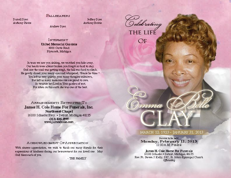 Tri-Fold Funeral Program Template Printable BI-FOLD and TRI-FOLD - free obituary template