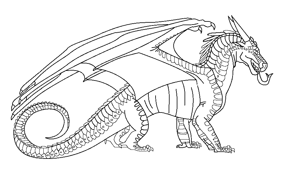 Wings Of Fire Nightwing Base Dragon Coloring Page Wings Of Fire Dragons Wings Of Fire