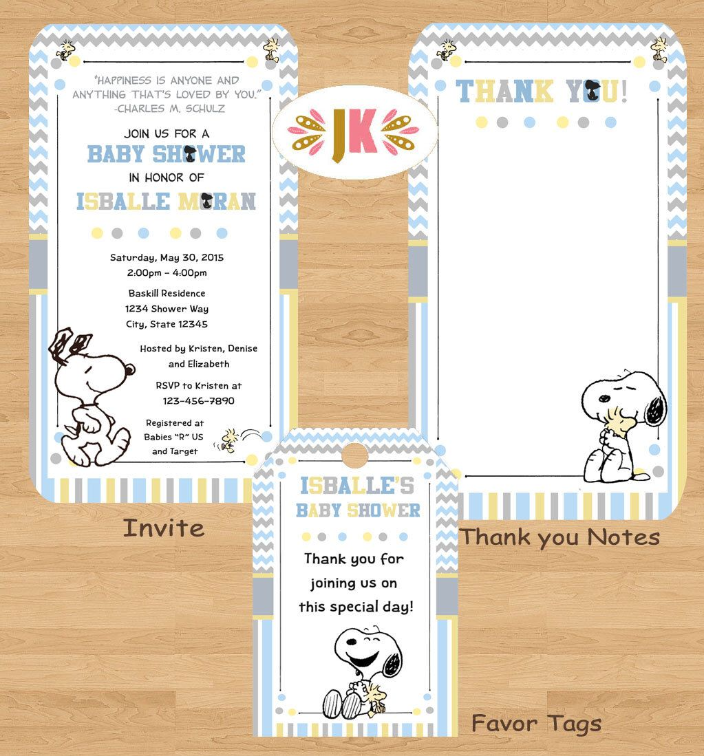 My Little Snoopy Baby Snoopy Baby Shower invitations by JuKaDesignz ...