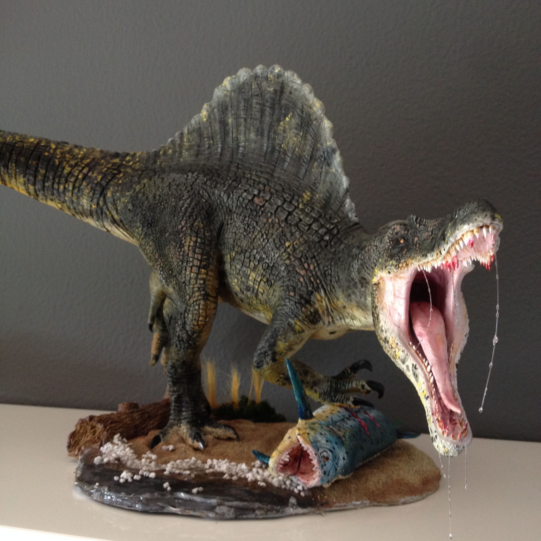 1/24 scale SPINOSAURUS Dinosaur model kit I built and
