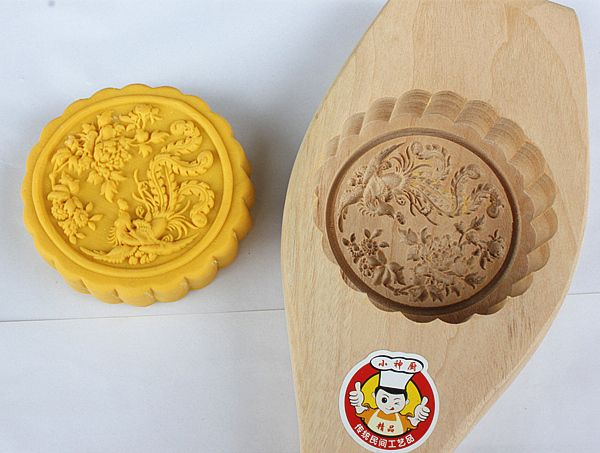 Wooden Moon Cake Mold Cake Mold Three Dimensional Beat Style Moon