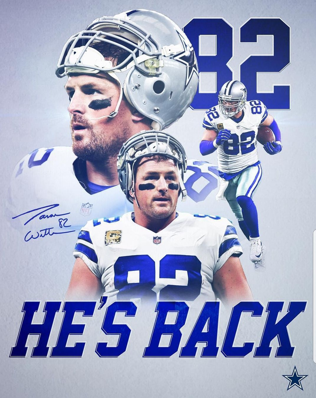 Yay! Love Jason Witten! Dallas cowboys football team